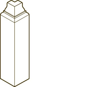 Poplar Outside Base Corner Block