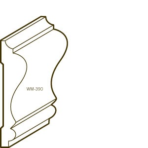 Finger Joint Pine Primed Chair Rail | 390