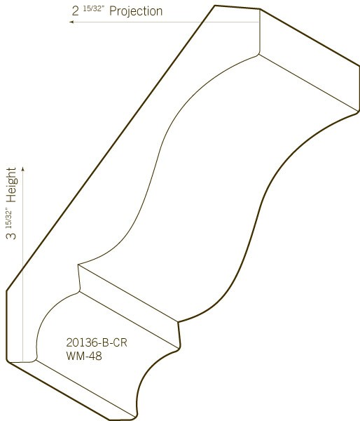 Poplar Crown Moulding | 20136-B-CR