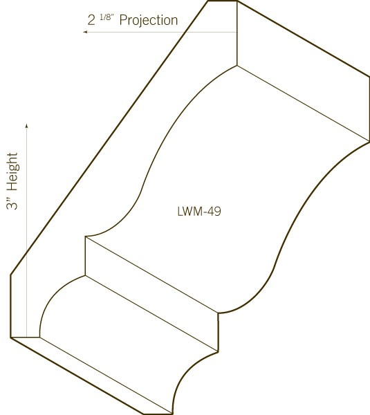Pine Crown Moulding | LWM-49