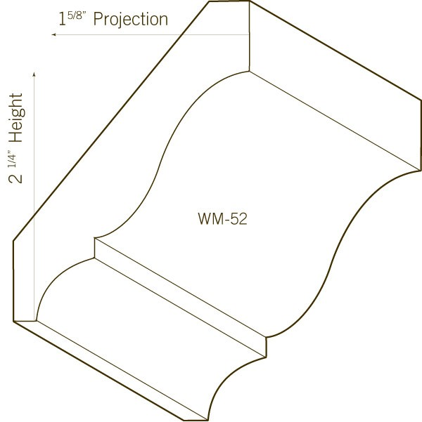 Pine Crown Moulding | WM-52