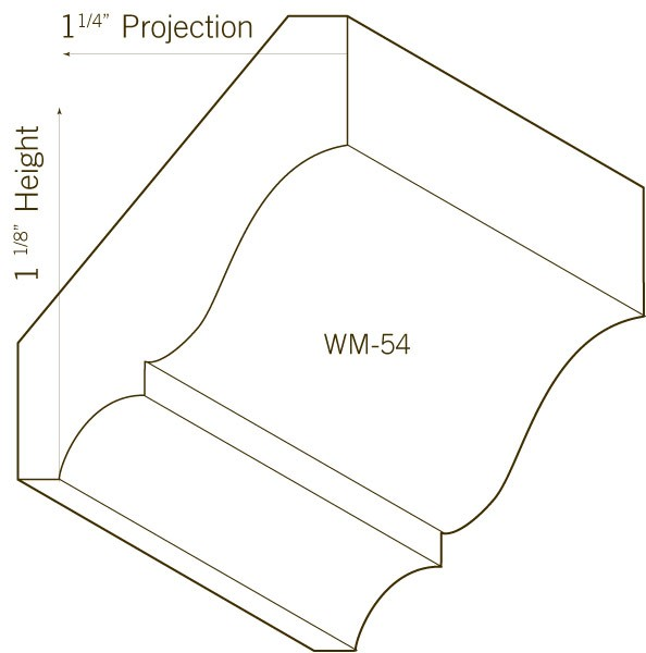 Pine Crown Moulding | WM-54