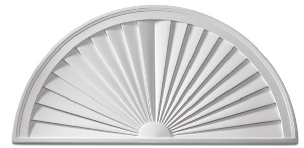Fypon® Half Round Sunburst Window Pediment