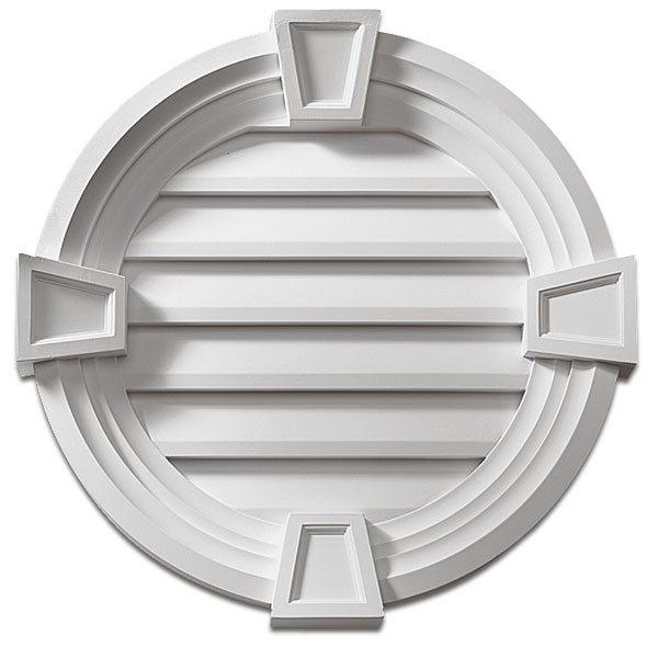 Fypon® Round Keystone Non-Venting Louver