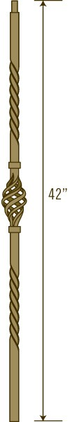 Solid Iron Baluster Primed Textured Finish | LI-5100