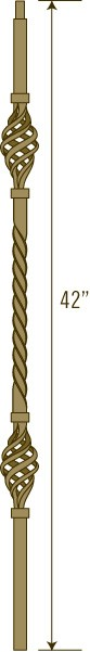 Solid Iron Baluster Primed Textured Finish | LI-5105