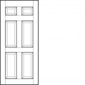 "Jeld-Wen® Colonist Smooth Solid  2'4"" x 6'8"" x 1-3/8"""