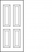 "Jeld-Wen® Coventry Smooth Hollow 3'0"" x 6'8"" x 1-3/8"""