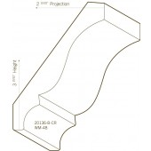 Finger Joint Poplar Primed Crown Moulding | 20136-B-CR