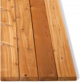 2 x 6 Architectural Knotty Cedar Decking S4S