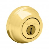 Kwikset® 780 Single Cylinder Bright Brass Deadbolt