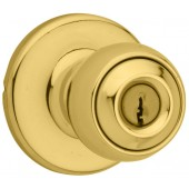 Kwikset® Polo Bright Brass Entry Knob