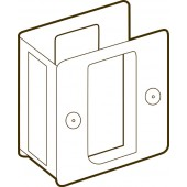 Trimco® Bright Brass Pocket Door Passage